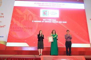 Big C Việt Nam đứng thứ hai trong Top 10 Nhà bán lẻ uy tín năm 2018