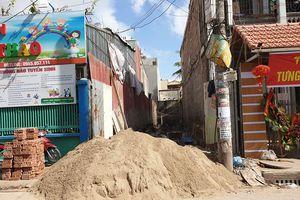 Hồ Nam (Hải Phòng): Công trình ngang nhiên xây dựng không phép gây nguy hiểm, ảnh hưởng tới người dân