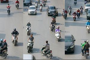 'Dở khóc dở cười' với bộ ảnh 'Bộ tứ siêu đẳng' về giao thông Hà Nội