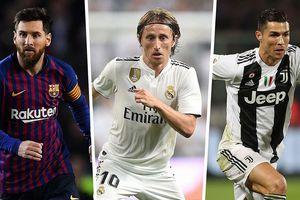 Phá tan đế chế của Messi và Ronaldo suốt 10 năm, Modric giành Quả bóng Vàng 2018