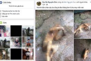 Cảnh cáo thanh niên đăng ảnh thui khỉ trên Facebook