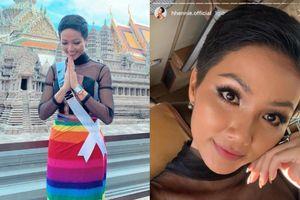 H'Hen Niê mặc váy cầu vồng ủng hộ cộng đồng LGBT và làm hành động đẹp lấy lòng hàng triệu fan Thái Lan