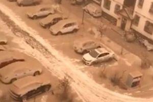 'Tuyết vàng' phủ kín nhiều thành phố Trung Quốc
