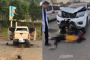 Lào Cai: Va chạm với xe ô tô bán tải, chồng tử vong, vợ nguy kịch