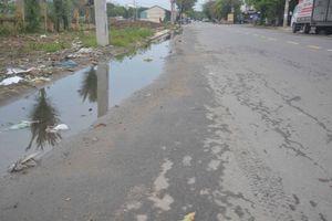 Đà Nẵng: Dân tố nhà thầu thi công hệ thống thu gom nước thải gây sụt lún đường