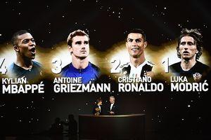 Modric giành Quả bóng vàng, chấm dứt thế thống trị của Ronaldo-Messi