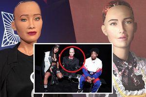 Nữ robot ngồi 'ngang hàng' với các ngôi sao trong show thời trang