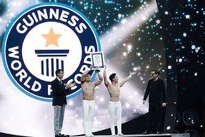 Quốc Cơ, Quốc Nghiệp xác lập kỷ lục Guinness Thế giới tại Italy