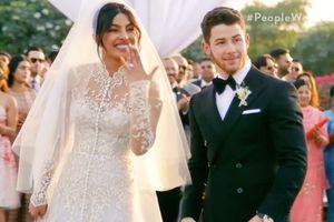 Hoa hậu Thế giới diện váy xuyên thấu, voan dài 22 m trong lễ cưới