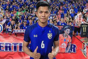 Chàng trung vệ đẹp trai, cao 1,91 m của đội tuyển Thái Lan