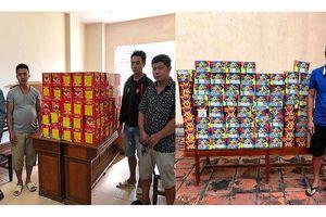 Bắt 5 đối tượng, thu giữ 340kg pháo nổ ở Hà Tĩnh