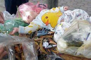 Bé trai 4 tháng tuổi bị bỏ trong thùng rác giữa đường