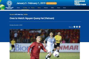 Từ AFF Cup, LĐBĐ châu Á 'đặt cược' Quang Hải tỏa sáng ở Asian Cup 2019