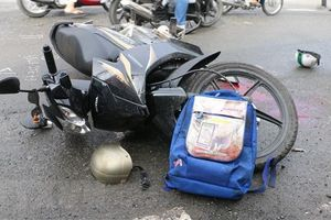 Xe tải va chạm với xe máy, 2 vợ chồng tử vong tại chỗ