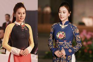 Quỳnh Búp Bê duyên dáng trình diễn áo dài tại Hàn Quốc