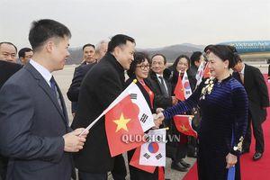 Chủ tịch Quốc hội Nguyễn Thị Kim Ngân đến Thủ đô Seoul, Hàn Quốc