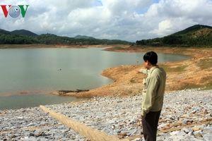 Các hồ chứa ở Quảng Nam vẫn thiếu nước trầm trọng