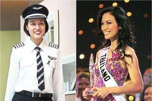 Nữ cơ trưởng xinh đẹp gây sốt khi là Hoa hậu Hoàn vũ Thái Lan 2005