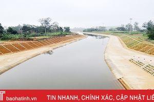 Kênh dẫn Ngàn Trươi sẵn sàng cấp nước phục vụ sản xuất