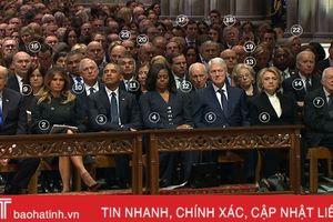 Nhiều đời Tổng thống và Phó Tổng thống Mỹ ngồi cạnh nhau trong lễ tang ông Bush 'cha'