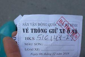 Sân Mỹ Đình trước trận Việt Nam-Philippines: Mồi chài gửi xe với giá 'cắt cổ'