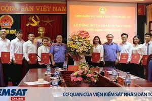 VKSND tỉnh Nghệ An, Hà Tĩnh: Công bố, trao quyết định tiếp nhận và điều động công chức