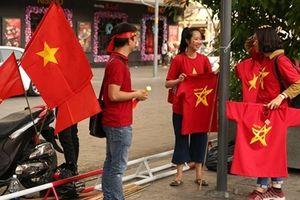CĐV TP Hồ Chí Minh náo nức trước giờ thi đấu của đội tuyển Việt Nam