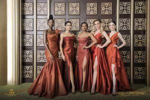H'Hen Niê diện đầm đỏ cúp ngực của các nhà thiết kế Thái Lan