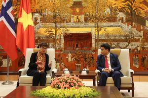 Thúc đẩy hợp tác giữa Hà Nội với các địa phương của Na Uy trong nhiều lĩnh vực