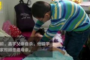 Bố tự sát, cậu bé 12 tuổi một mình chăm sóc mẹ bị ung thư xương khiến nhiều người không khỏi xót xa
