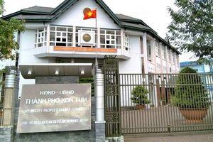 UBND TP Kon Tum bị trộm đột nhập phá két sắt