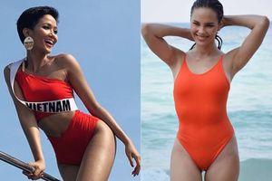 H'Hen Niê diện bikini bốc lửa, mỹ nhân Philippines lộ eo bánh mì