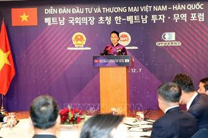 Chủ tịch Quốc hội dự Diễn đàn Đầu tư và Thương mại Việt Nam-Hàn Quốc