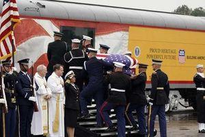 Chuyến tàu đặc biệt đưa ông Bush 'cha' về nơi an nghỉ