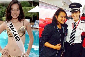 Bất ngờ khi nữ cơ trưởng chở đoàn thí sinh từng là HH Hoàn vũ Thái Lan