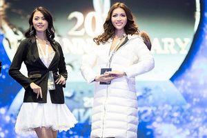 Minh Tú nổi bật trên sân khấu tổng duyệt chung kết Miss Supranational