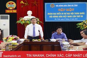 Mang bầu nhiệt huyết, trí tuệ của nhà nông Hà Tĩnh tới Đại hội Hội Nông dân Việt Nam