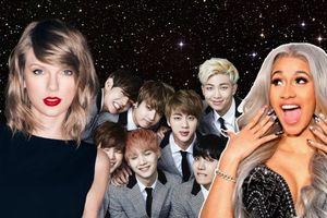 Đề cử Grammy 2019: Taylor Swift trượt Big Four, Cardi B và Gaga 'thống trị', BTS lần đầu được gọi tên!