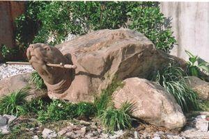 Rùa đá ngậm gươm: Tác phẩm nghệ thuật độc đáo của nghệ nhân Vũ Thái