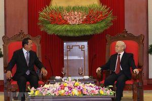 Tổng Bí thư, Chủ tịch nước Nguyễn Phú Trọng tiếp Thủ tướng Campuchia