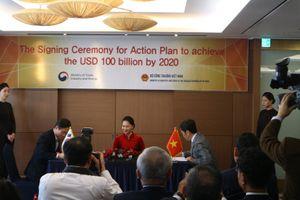 Ký biên bản ghi nhớ thực hiện mục tiêu kim ngạch thương mại song phương Việt Nam- Hàn Quốc