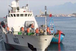Cứu nạn thành công tàu cá ĐNa 90917TS cùng 8 thuyền viên trên biển