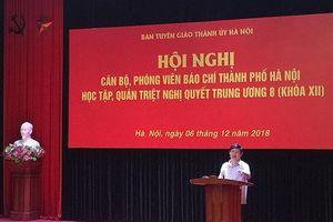 Cán bộ, phóng viên báo chí Hà Nội học tập, quán triệt Nghị quyết Trung ương 8 (khóa XII)