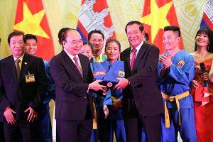 Biểu diễn Vovinam tại Quốc yến chiêu đãi Thủ tướng Campuchia