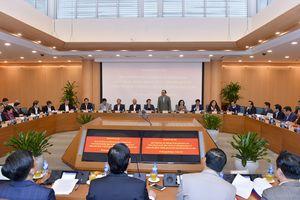 Đảng Đoàn Quốc hội nghe Hà Nội báo cáo đề án thí điểm quản lý chính quyền đô thị