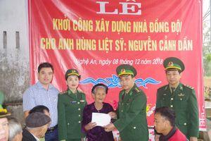Khởi công sửa chữa nhà đồng đội cho gia đình anh hùng liệt sĩ