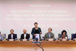 Thí điểm quản lý theo mô hình chính quyền đô thị TP Hà Nội