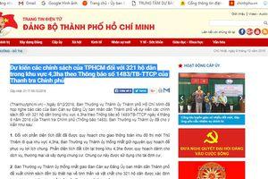 Dự kiến chính sách đền bù đối với hơn 320 hộ dân ở Thủ Thiêm