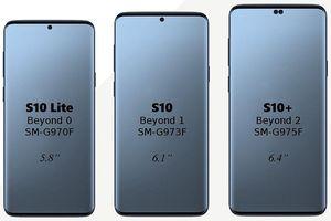 Đã có ảnh render của 3 phiên bản Galaxy S10, S10 Lite và S10 Plus
