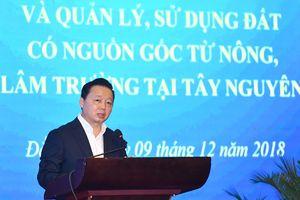 Bộ trưởng Trần Hồng Hà: Phát huy nguồn lực đất đai để phát triển Tây Nguyên toàn diện, bền vững
